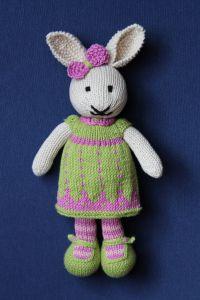 Conejita de punto vs. Knitted Rabbit   miscositasdepatchwork