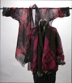 Hand-Dyed Silk Organza Shawl Collar Jackets Diane Katz Designs