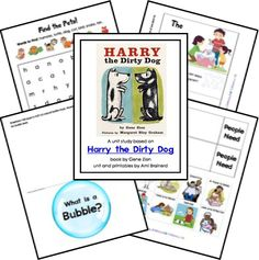 Harry the Dirty Dog Unit Lessons and Lapbook Printables; matches: The 20th Century Children's Book Treasury from the Sonlight Preschool Program