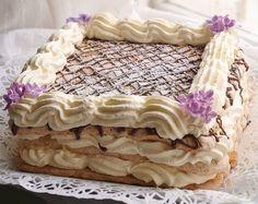 """Budapestbakelsen förknippar man kanske mest att den rullas ihop, precis som en rulltårta. Men man kan också baka ut den som en rund eller fyrkantig tårta om man vill """"trixa"""" till det lite! Istället... Cookie Cake Pie, Cookie Desserts, Fun Desserts, Swedish Cookies, Sweet Cookies, Swedish Recipes, Hungarian Recipes, Bagan, Best Dessert Recipes"""