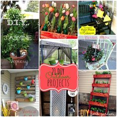 Great Ideas -- 21 Outdoor DIY Ideas!! -- Tatertots and Jello
