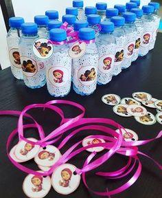 Botellas de Agua decoradas Masha y OSo