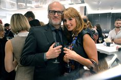 November 26, 2015 - Markus Wahl and Mareile Höppner at the Longchamp new flagship store opening in #Cologne.