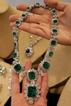 Bulgari Emerald and Diamond Necklace - Estate of Elizabeth Taylor Auctioned in december 2011
