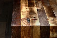 Reclaimed wood table {handmade by District Millworks}