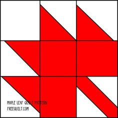 Maple Leaf Quilt Block Pattern | ... Download the pattern and enlarge or reduce the size to fit your needs