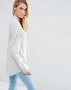 ASOS | ASOS Tunic With High Neck In Cashmere Mix