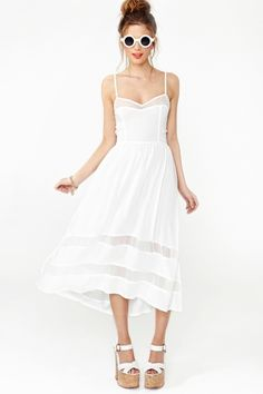 Charmed Lace Dress - White, $58. | So adorable