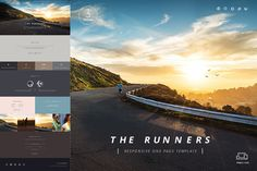 Runners - One Page Template HTML by Mesmeriseme Themes on Creative Market