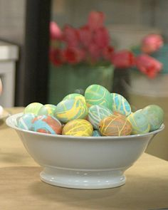 Use rubber cement to create these Dripped-On Easter Eggs