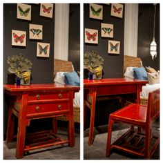 Chinese Desk with Hidden Stool from our Zhang Collection at Four Hands Home in Austin, TX