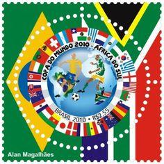 selo brasileiro Copa de 2010 por Alan Magalhães