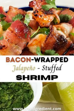 Tailgate in your living room with these bacon wrapped, jalapeño stuffed shrimp. These flavorful appetizers pack a flavor punch that will knock your socks off! Best Party Appetizers, Best Appetizer Recipes, Healthy Appetizers, Easy Healthy Dinners, Easy Healthy Recipes, Lunch Recipes, Seafood Recipes, Healthy Snacks, Cooking Recipes