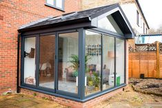 Our Modern Conservatory Extension- Before and After (Home Renovation Project - Mummy Daddy Me Conservatory Interiors, Modern Conservatory, Conservatory Extension, Glass Conservatory, Cottage Extension, House Extension Design, Glass Extension, Rear Extension, Extension Ideas