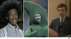 "Eddie Murphy on ""Saturday Night Live,"" as Buckwheat, Gumby, and Mr. White."