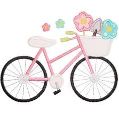 Spring Time Bicycle - Planet Applique Inc
