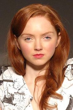 Lily Cole. Amazing red hair :D