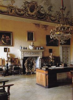 ♜ Shabby Castle Chic ♜ rich and gorgeous home decor - Villa di Geggiano. Photo by Derry Moore.