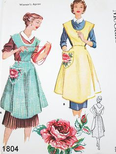 PATTERN only. Vintage Sewing from Commercial Pattern Archive. McCalls 1804 c.1953. Click on broken link for Pattern Pieces