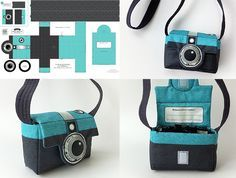 Berene Campbell of Happy Sew Lucky has a nifty cut-and-sew fabric design that lets you make a camera bag that looks like a Diana camera of the sixties. LOVE!