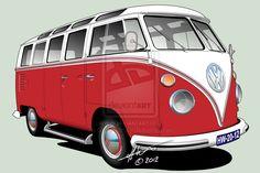 VW T1 21-window deluxe by Orangestroke on DeviantArt