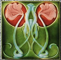 Antique Art Nouveau Tile (Richards)