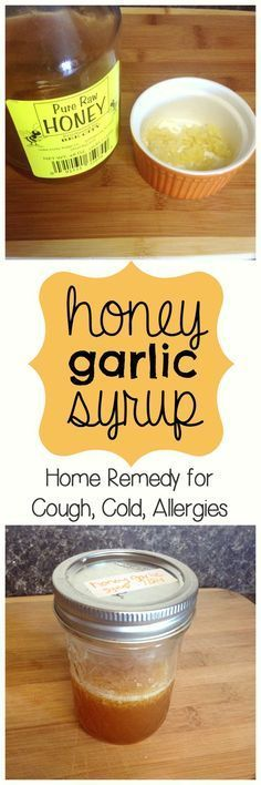 Allergy Remedies Honey garlic syrup is a home remedy for coughs, colds, and allergies. Think of it as a homemade cough and cold syrup recipe, without the side effects. Safe for kids. Natural Remedies For Allergies, Allergy Remedies, Natural Cough Remedies, Flu Remedies, Holistic Remedies, Natural Cures, Herbal Remedies, Health Remedies, Sleep Remedies