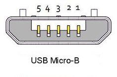 micro usb plug pin out