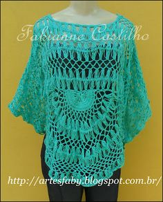 blusa crochê de grampo  feita com Camila Fashion  cor 187