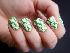 Four Leaf Clover Nail Art!!