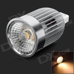 Color: White + Silver; Color BIN: Warm White; Material: Aluminum alloy; Quantity: 1 Piece; Power: 7W; Rated Voltage: Others,AC 12 V; Connector Type: GU5.3; Emitter Type: COB; Total Emitters: 1; Chip Brand: Others,Pauray; Actual Lumens: 560~570 lumens; Theoretical Lumens: 560~570 lumens; Color Temperature: Others,2700~3200K; Dimmable: no; Beam Angle: 38 °; Packing List: 1 x Spotlight; http://j.mp/1q0uUVA