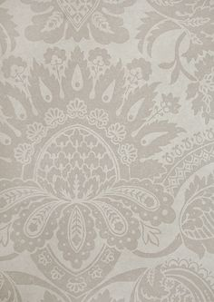 Pomegranate Taupe Damask Wallpaper | Traditional Wallcovering