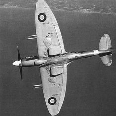 """Spitfire Mk 22 PK312 """"Just love that filthy tummy! Typical Spit."""" KB"""