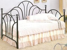 Twin Black Metal Daybed Frame |