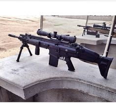 SCAR-H with bipod and large scope sight. jdm