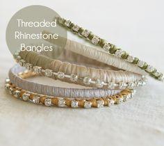 Threaded Bracelet DIY
