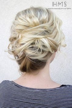 wedding updo hairstyle via Hair and Makeup by Steph 6 - Deer Pearl Flowers / http://www.deerpearlflowers.com/wedding-hairstyle-inspiration/wedding-updo-hairstyle-via-hair-and-makeup-by-steph-6/