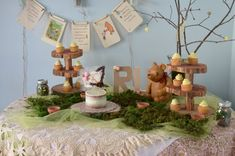1st Birthday Party, Hundred Acre Wood, Winnie the Pooh, Roo and Kanga