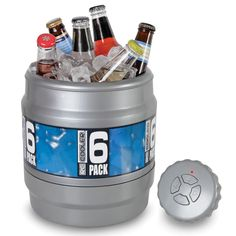 Remote Controlled Rolling Beverage Cooler - http://www.netjunkyard.com/remote-controlled-rolling-beverage-cooler/