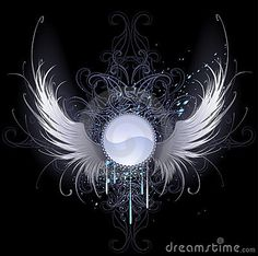 Round Banner With Angel Wings - Download From Over 30 Million High Quality Stock Photos, Images, Vectors. Sign up for FREE today. Image: 18653462