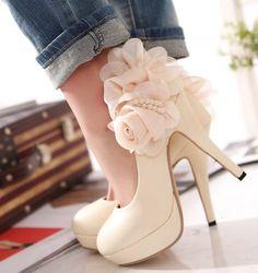 Lovely platform high heels shoes wedding pumps on Chiq http://www.chiq.com/lovely-platform-high-heels-shoes-wedding-pumps