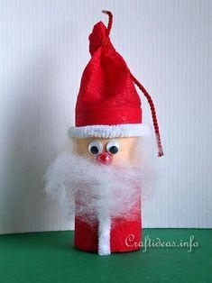 Toilet Paper Tube Santa Craft | Turn a toilet paper tube into an adorable mini Santa!
