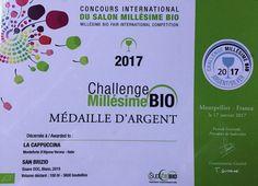 San Brizio 2015  premiato con la medaglia Argento al concorso Challenge MillesimeBio 2017