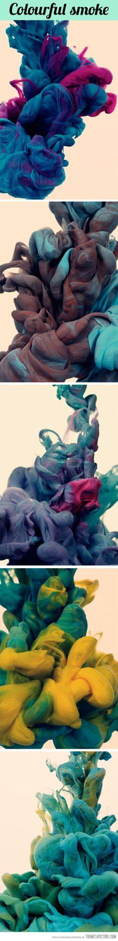 Colourful smoke…