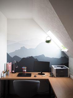 DIY Malerprojekt: Mountains are calling - Handmade Houser , DIY Malerprojekt: Mountains are calling Ergebnis des DIY Malerprojekts Berge an die Wand malen Selbermachen.