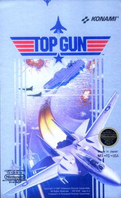 #Top Gun - Label or Box Art #nintendo games #gamer #snes #original #classic #pin #synergeticideas #gameon #play #award