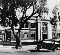 Burbank City Hall, 1921. In 1916, the original Burbank City Hall was constructed after bonds were issued to finance the project. Originally, the City Hall building housed all city services, including the police and fire departments, an emergency medical ward, a courthouse, and a jail. Burbank Historical Society. San Fernando Valley History Digital Library.