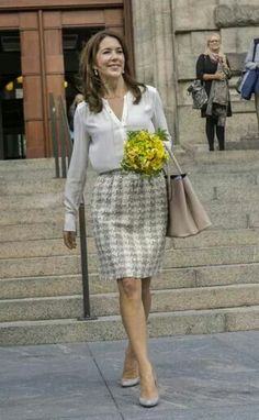 Crown Princess Mary attended a conference at Christiansborg Palace this morning.