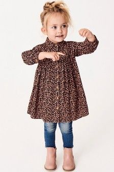 Buy Animal Shirt Dress from the Next UK online shop Toddler Girl Style, Toddler Girl Outfits, Toddler Fashion, Kids Outfits, Kids Fashion, Toddler Girls, Baby Girls, Pink Animals, Little Girl Outfits