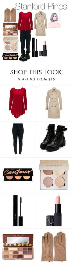 """""""Stanford Pines from Disney's Gravity Falls"""" by tori-camilleri on Polyvore featuring River Island, Gucci, NARS Cosmetics, Too Faced Cosmetics and Journee Collection"""
